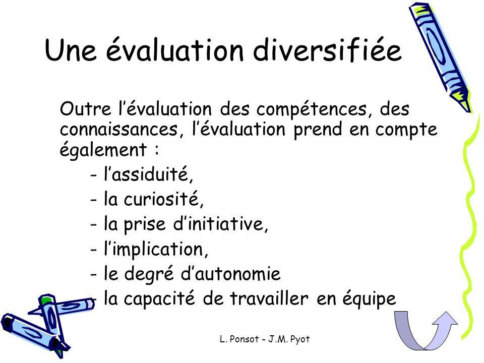Une évaluation diversifiée