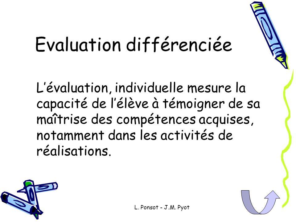 Evaluation différenciée
