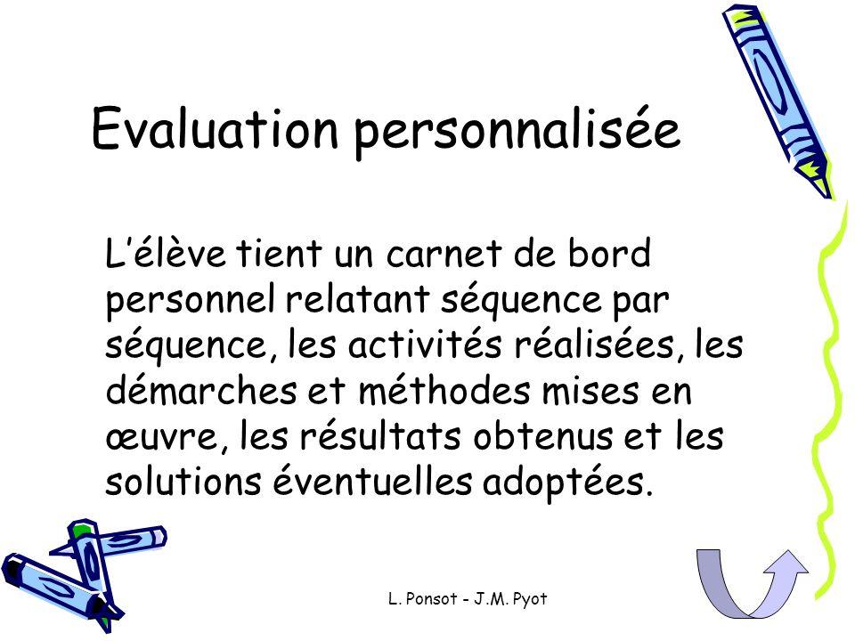 Evaluation personnalisée