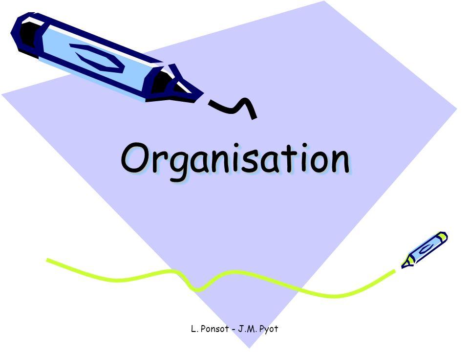 Organisation L. Ponsot - J.M. Pyot