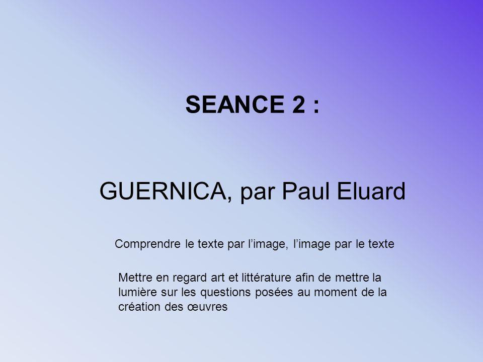 GUERNICA, par Paul Eluard