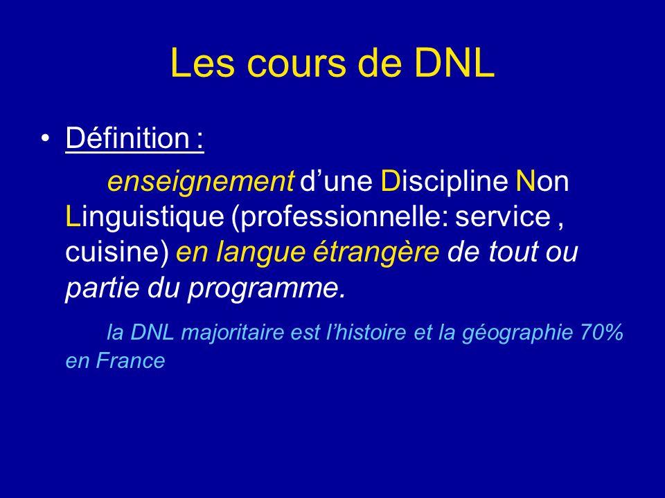 Les cours de DNL Définition :