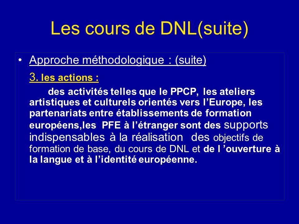Les cours de DNL(suite)