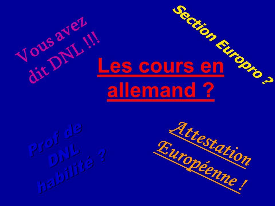 Attestation Européenne !
