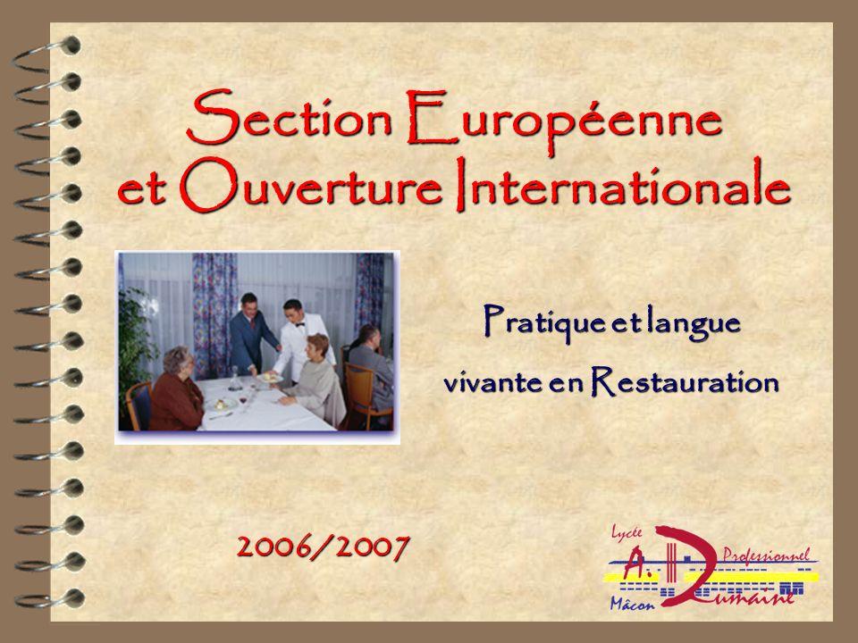 Section Européenne et Ouverture Internationale