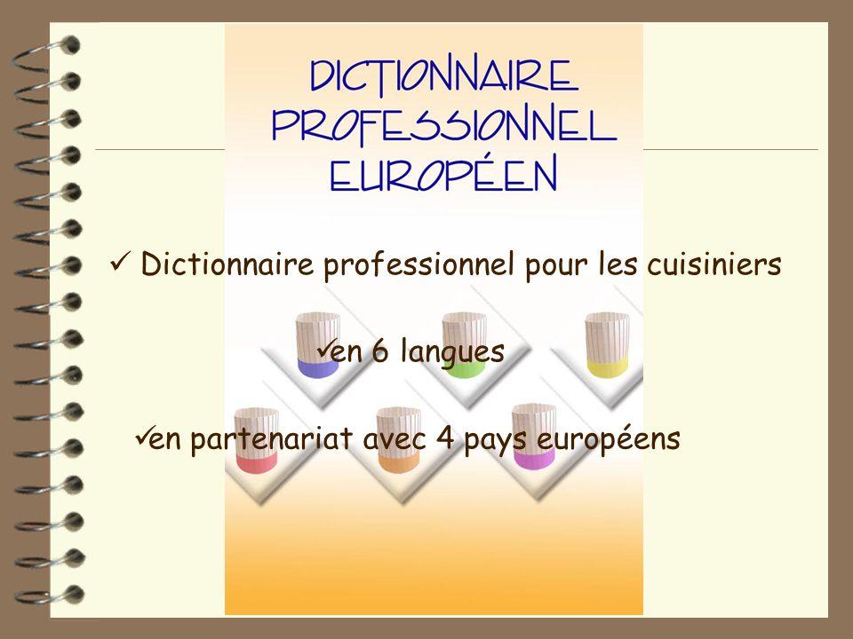 Dictionnaire professionnel pour les cuisiniers