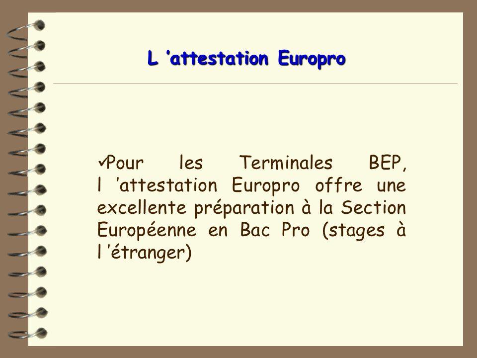 L 'attestation Europro