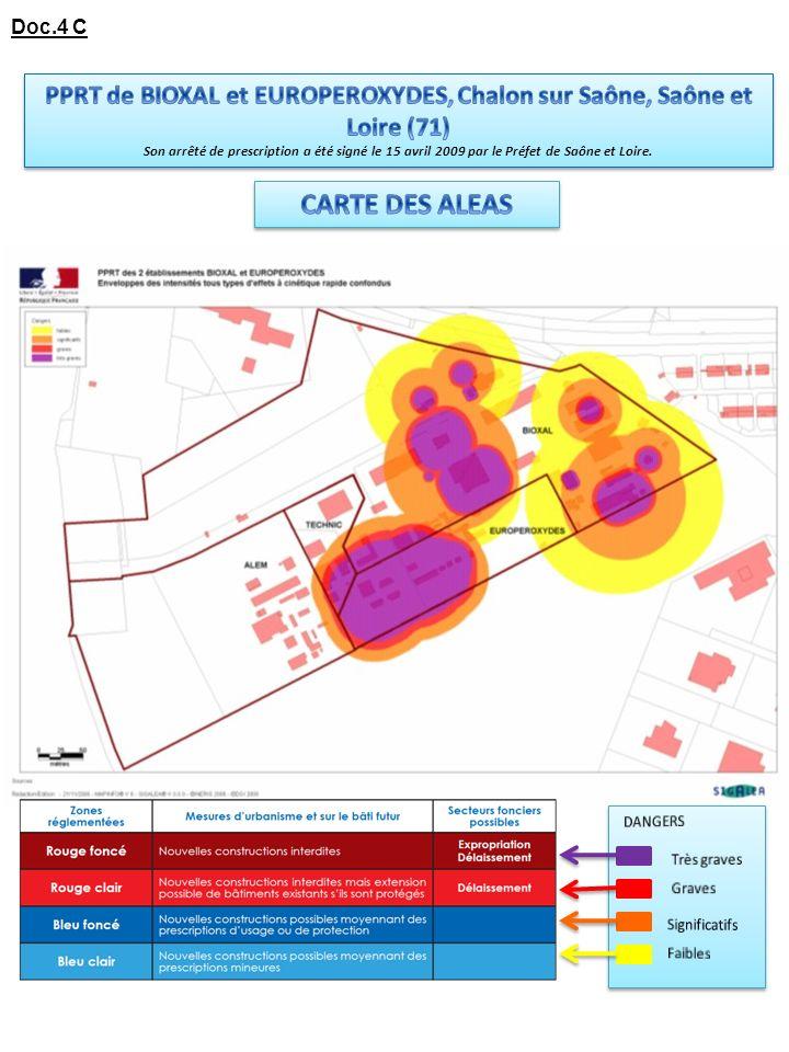 PPRT de BIOXAL et EUROPEROXYDES, Chalon sur Saône, Saône et Loire (71)