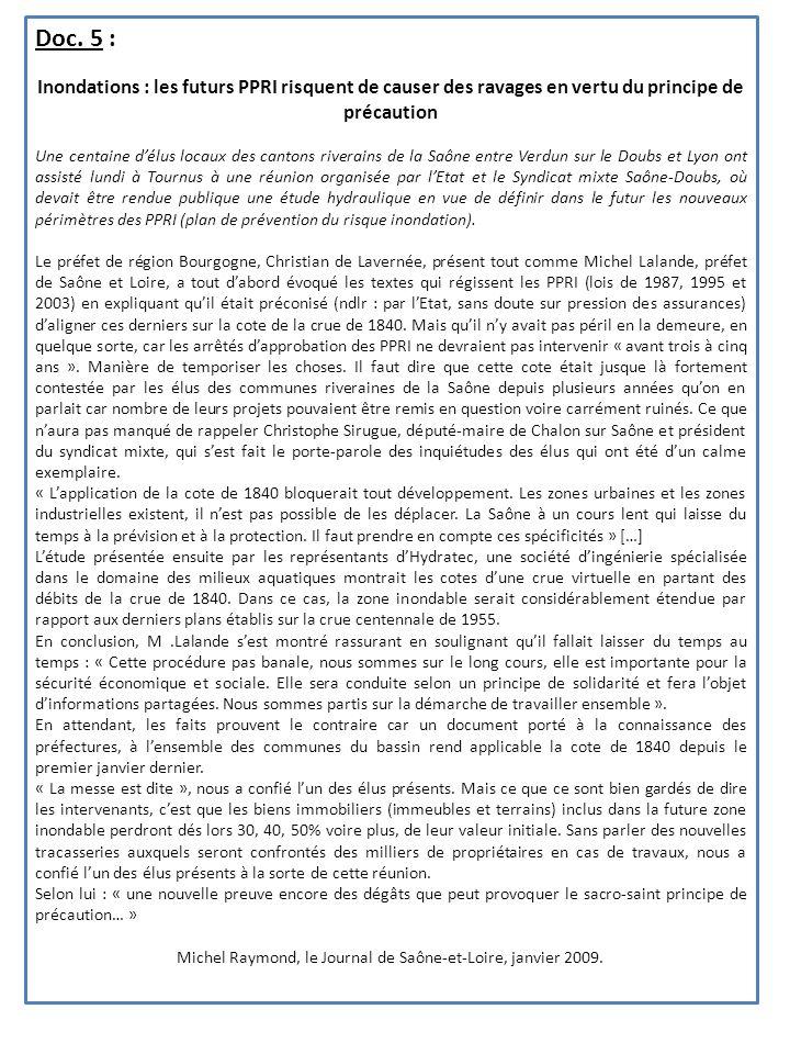 Michel Raymond, le Journal de Saône-et-Loire, janvier 2009.