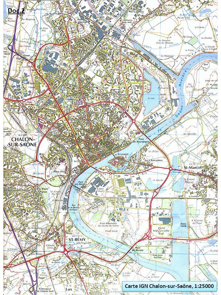 Doc.2 Carte IGN Chalon-sur-Saône, 1:25000