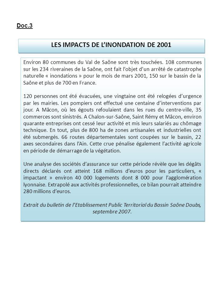 LES IMPACTS DE L'INONDATION DE 2001