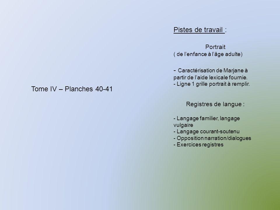 Caractérisation de Marjane à partir de l'aide lexicale fournie.