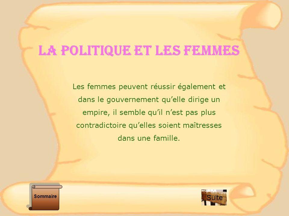 La Politique et lES femmeS