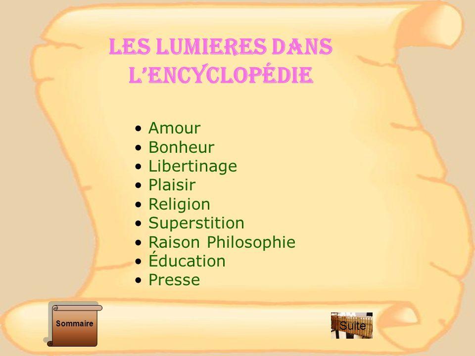 LES LUMIERES DANS L'ENCYCLOPÉDIE