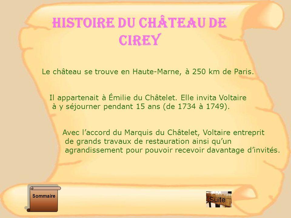 HISTOIRE DU CHÂTEAU DE CIREY