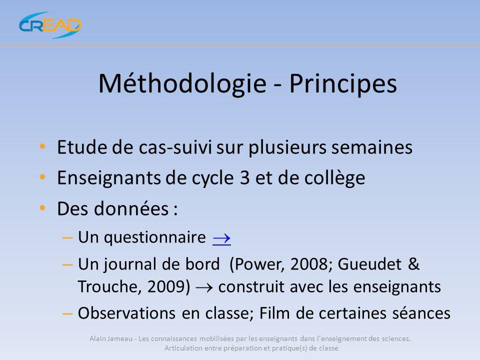 Méthodologie - Principes