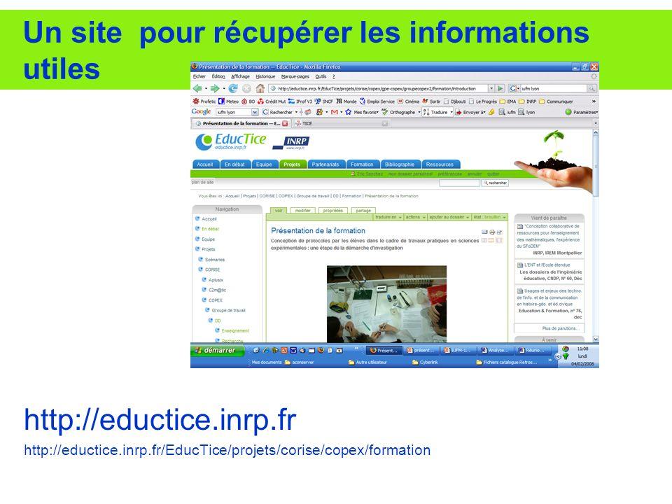 Un site pour récupérer les informations utiles