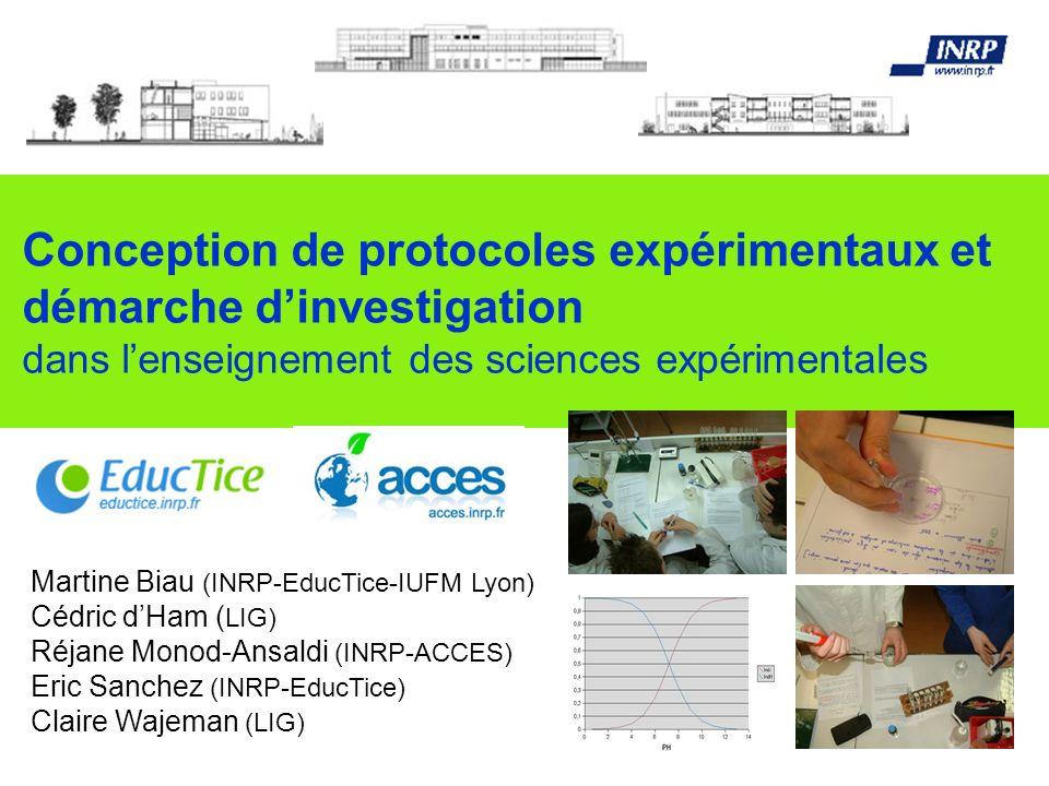 Conception de protocoles expérimentaux et démarche d'investigation dans l'enseignement des sciences expérimentales