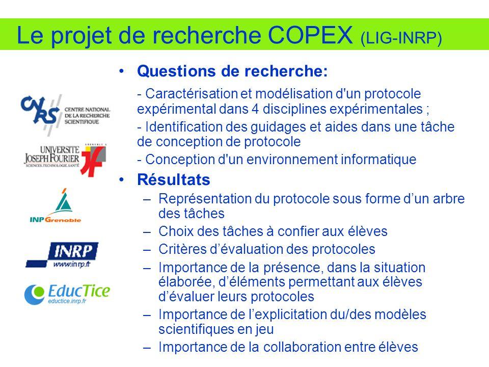Le projet de recherche COPEX (LIG-INRP)