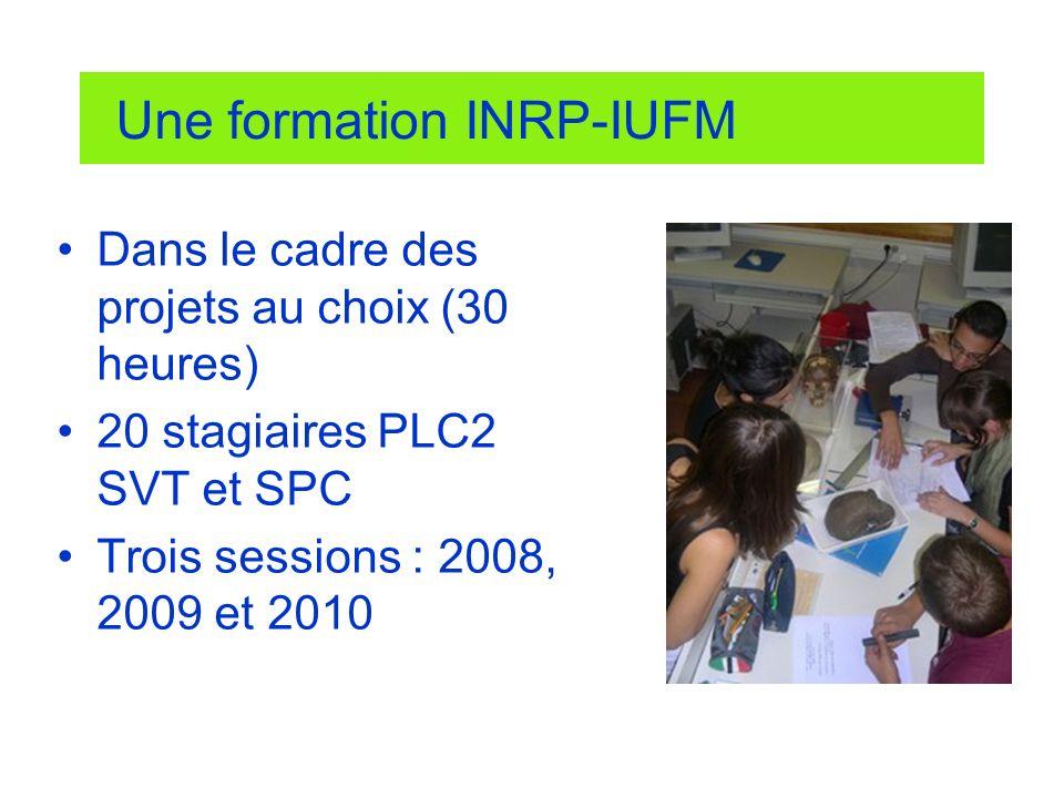 Une formation INRP-IUFM