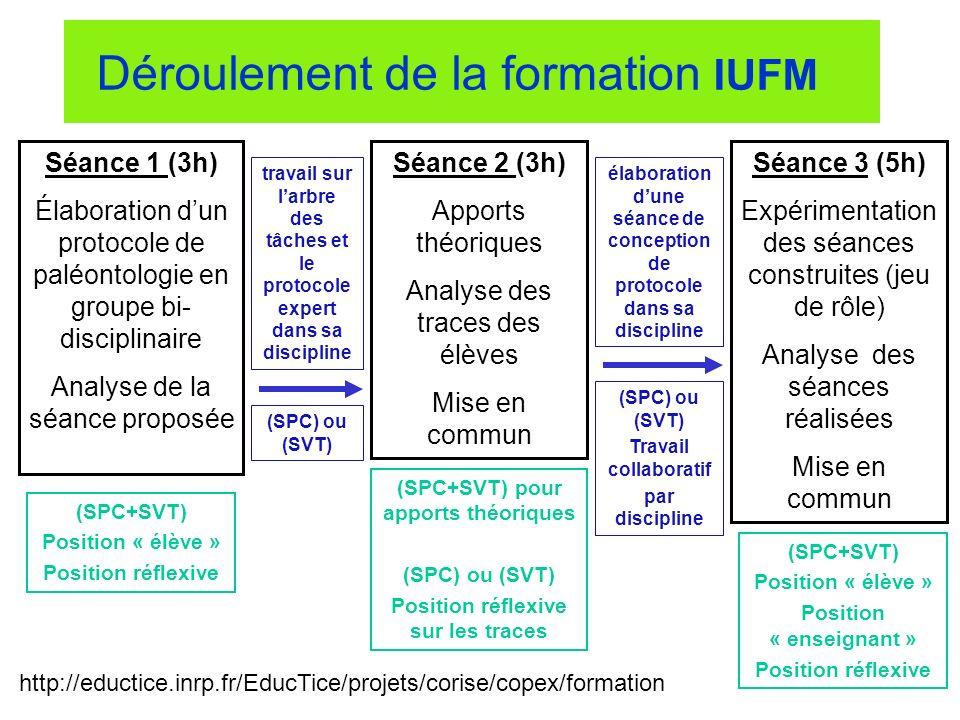 Déroulement de la formation IUFM