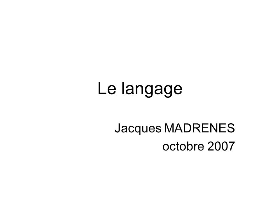 Jacques MADRENES octobre 2007