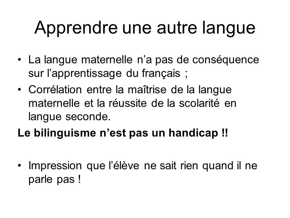 Apprendre une autre langue