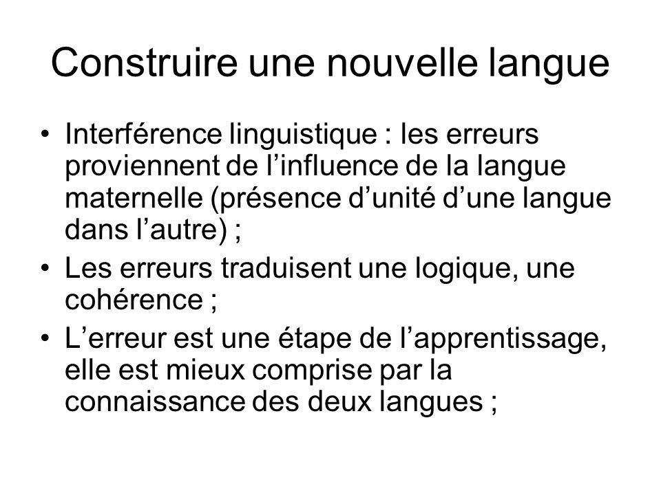 Construire une nouvelle langue