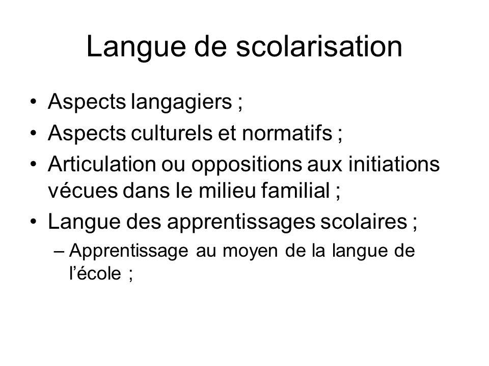 Langue de scolarisation