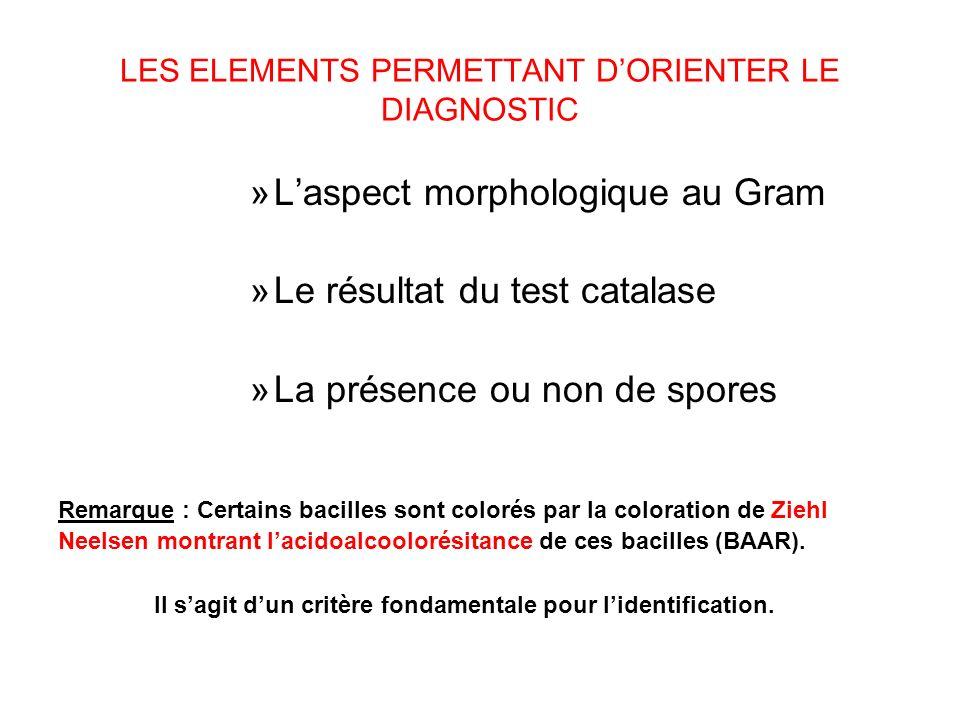 LES ELEMENTS PERMETTANT D'ORIENTER LE DIAGNOSTIC