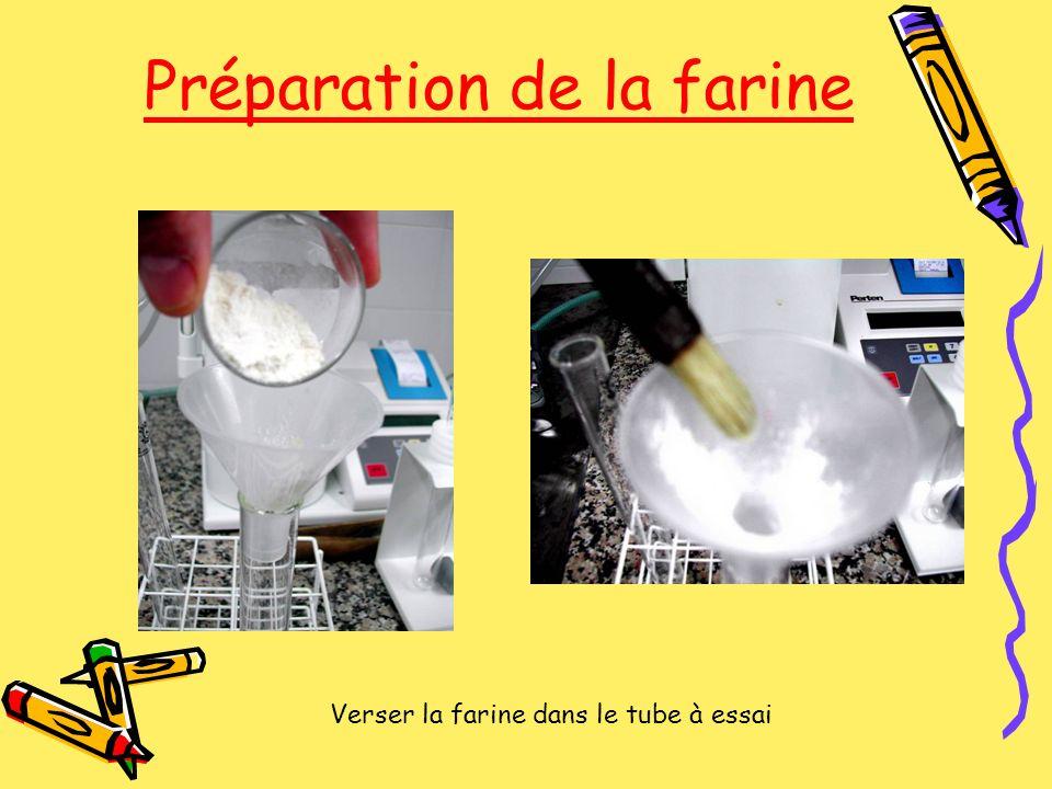 Préparation de la farine