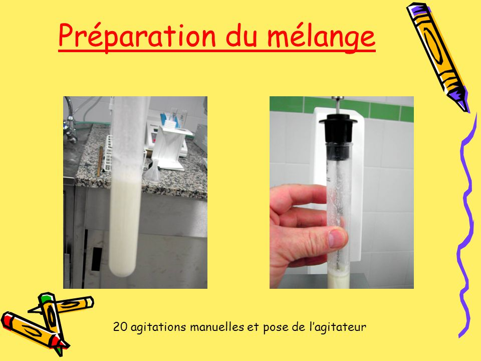 Préparation du mélange