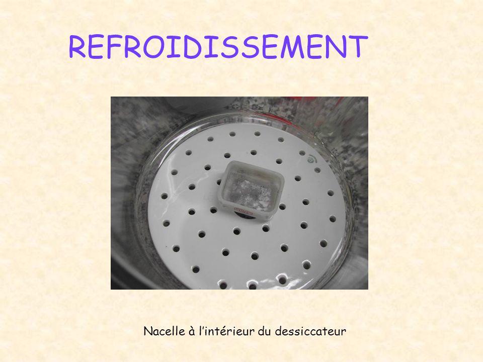 REFROIDISSEMENT Nacelle à l'intérieur du dessiccateur
