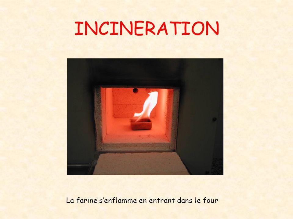 INCINERATION La farine s'enflamme en entrant dans le four