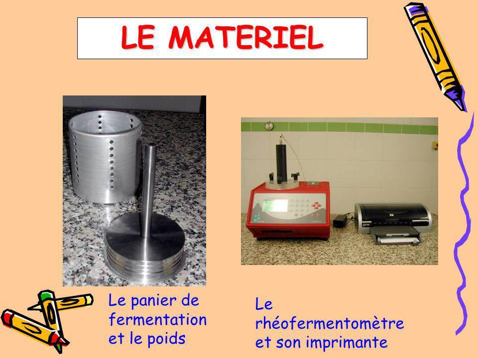 LE MATERIEL Le panier de fermentation et le poids