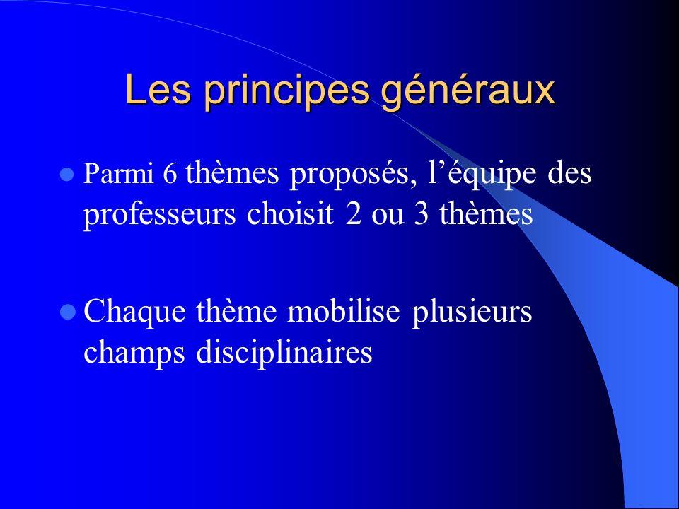Les principes généraux