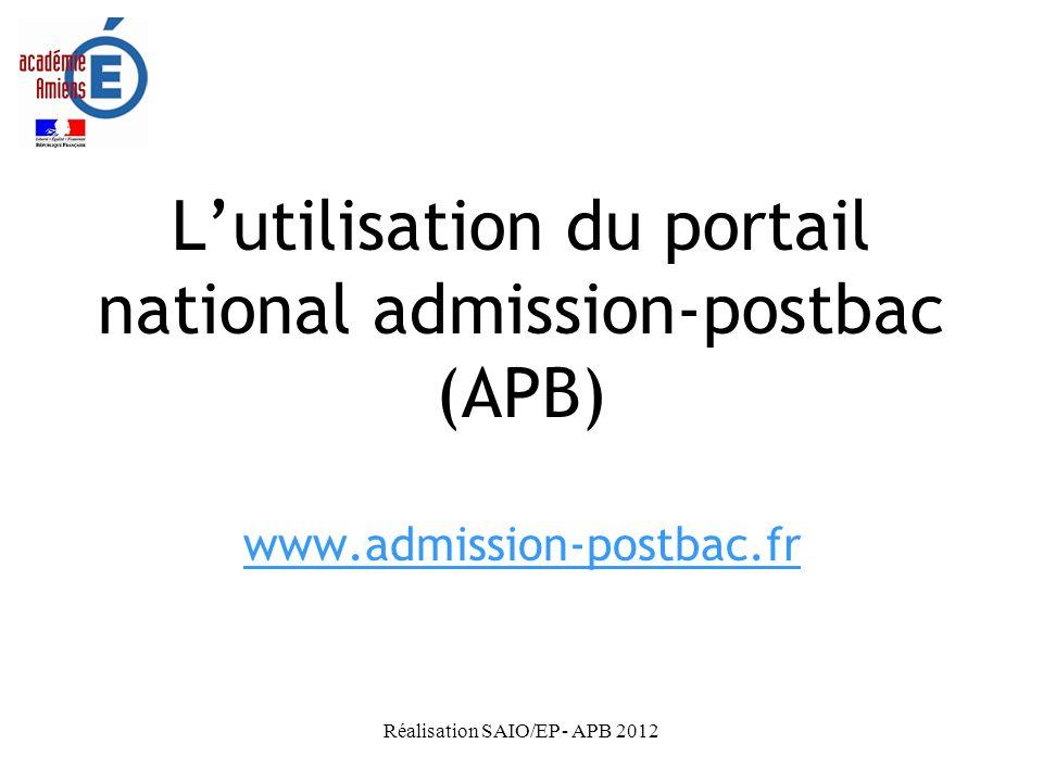 L'utilisation du portail national admission-postbac (APB)