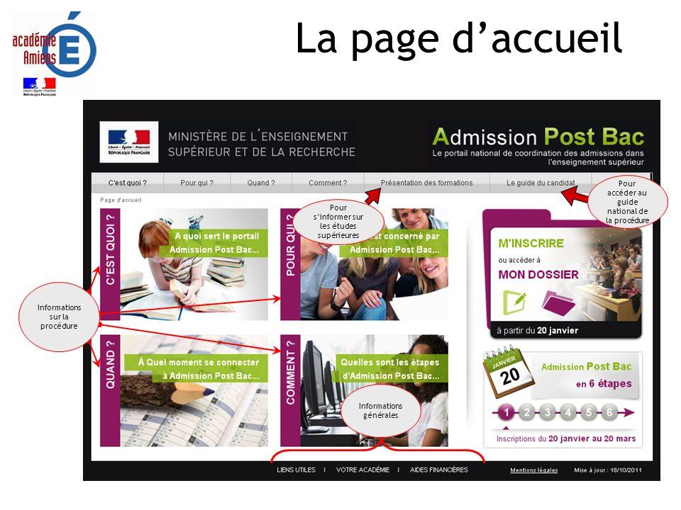 La page d'accueil Réalisation SAIO/EP - APB 2012