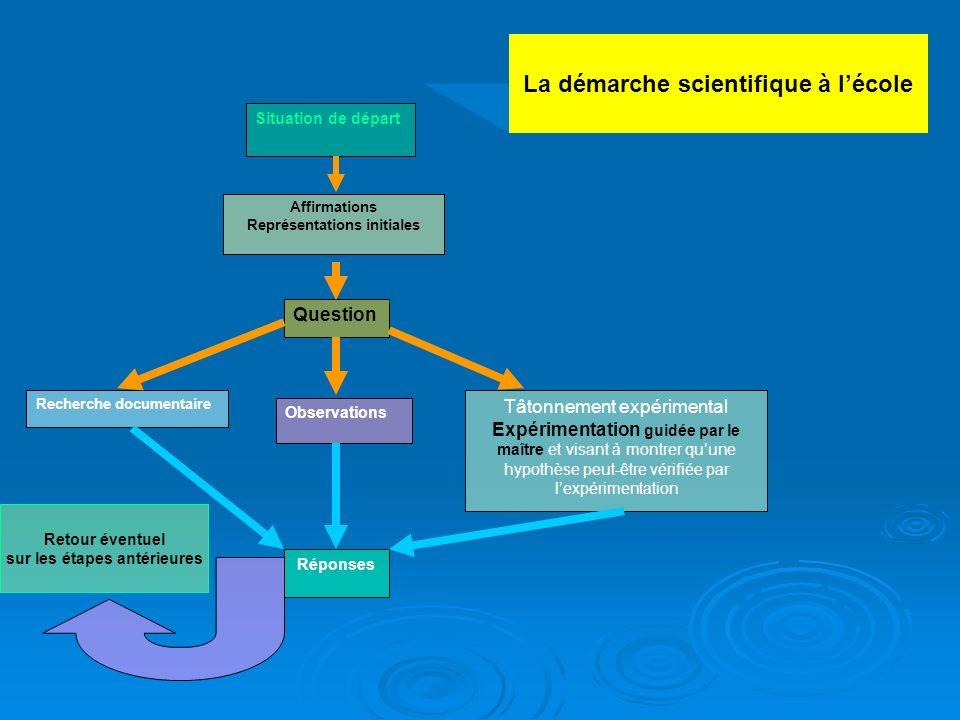 La démarche scientifique à l'école