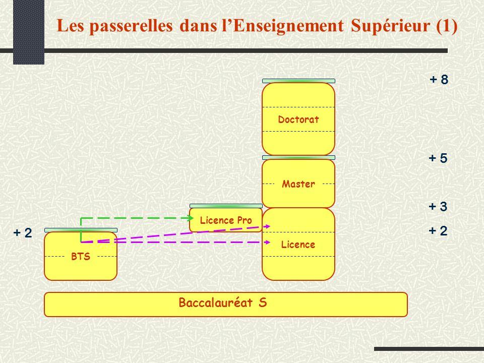 Les passerelles dans l'Enseignement Supérieur (1)