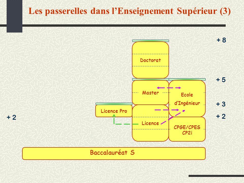 Les passerelles dans l'Enseignement Supérieur (3)