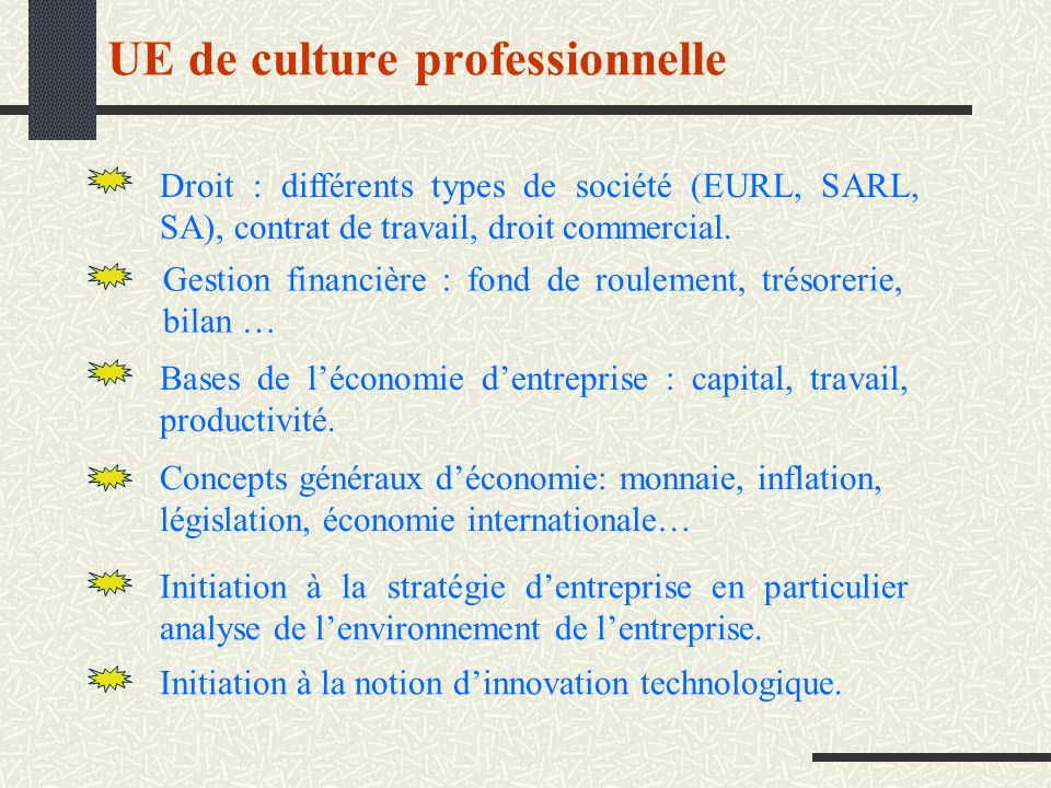 UE de culture professionnelle