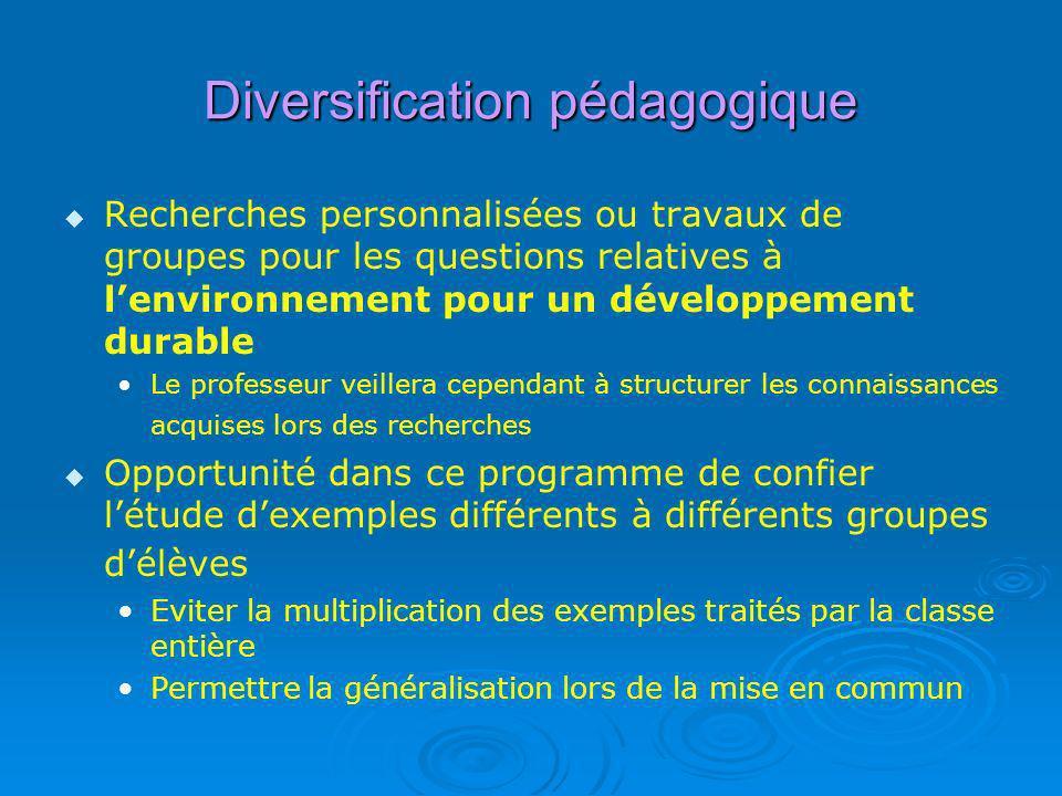 Diversification pédagogique