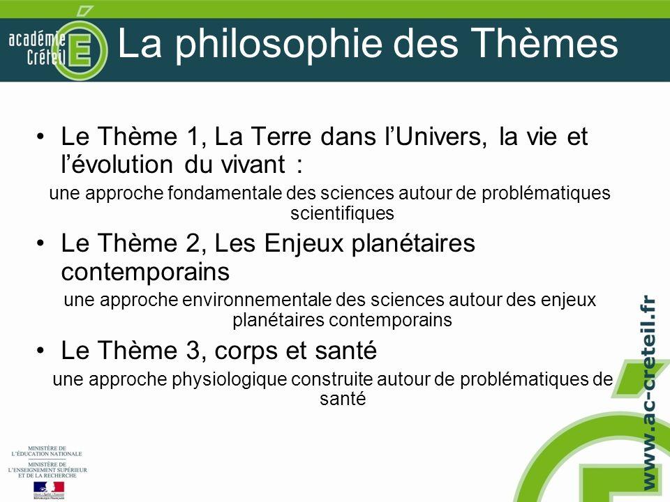La philosophie des Thèmes