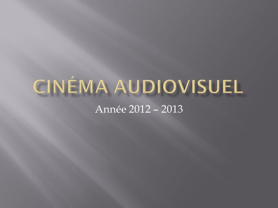 Cinéma audiovisuel Année 2012 – 2013