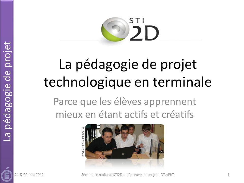 La pédagogie de projet technologique en terminale