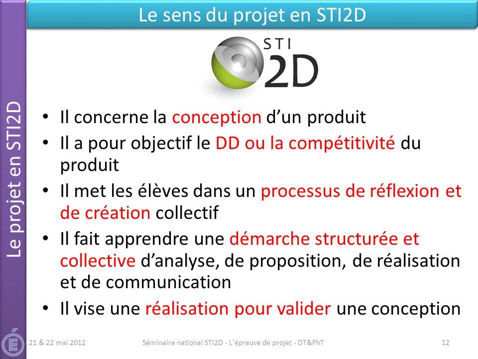 Le sens du projet en STI2D
