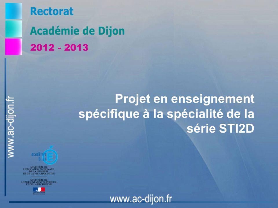 Projet en enseignement spécifique à la spécialité de la série STI2D
