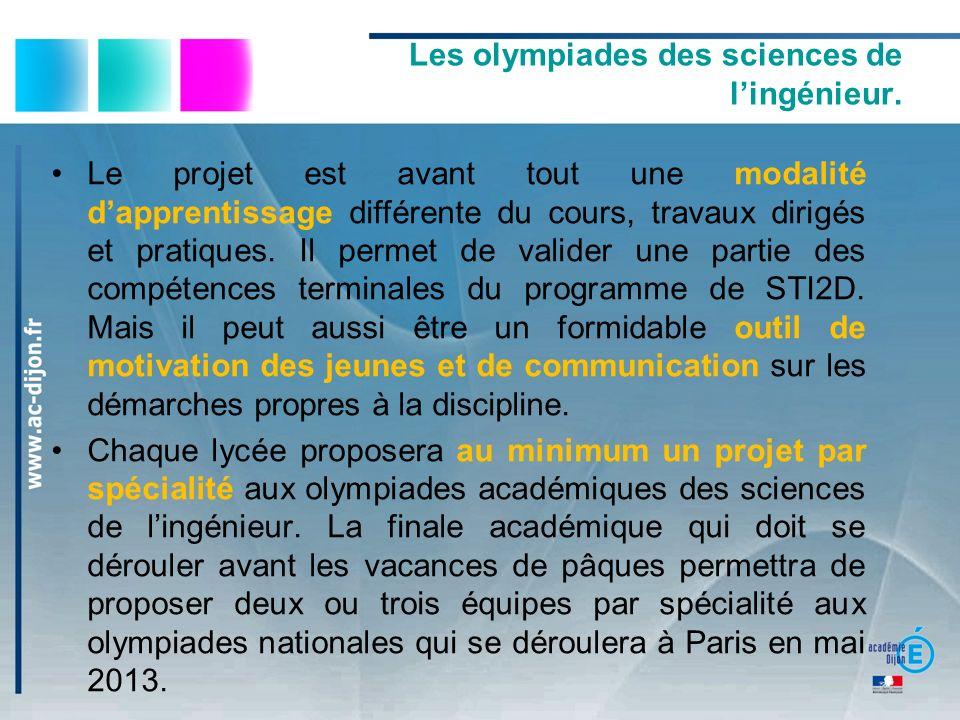 Les olympiades des sciences de l'ingénieur.