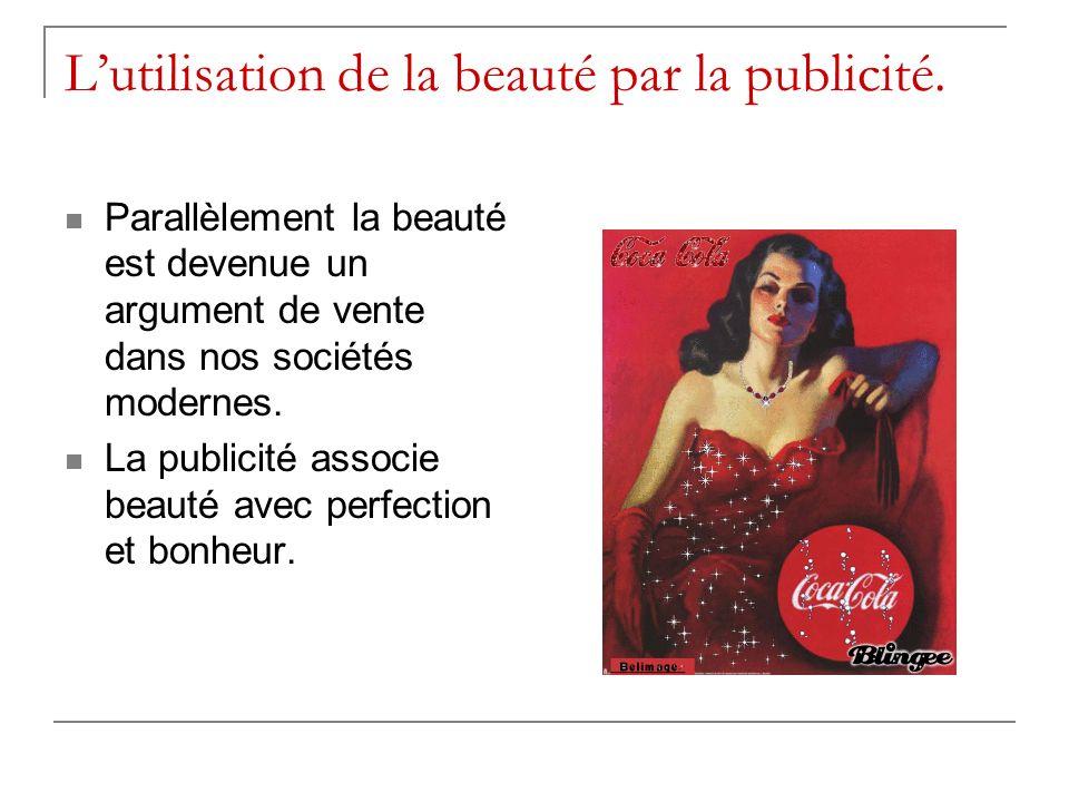 L'utilisation de la beauté par la publicité.